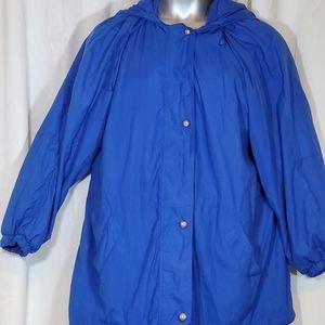 Blue windbreaker plus size 1x